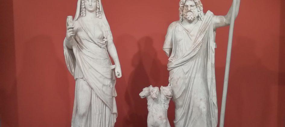 Skulptur Hades und Persephone